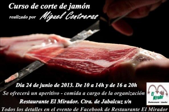 curso de corte de Jamón Restaurante Asador el Mirador Jaén (2)