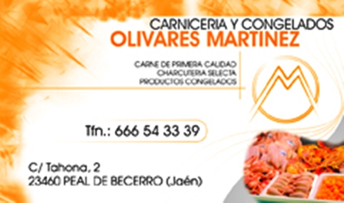 tarjeta carniceria olivares martinez