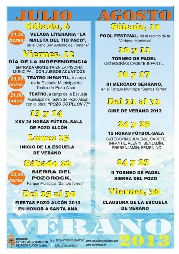Cartel de Verano Pozo Alcón 2013