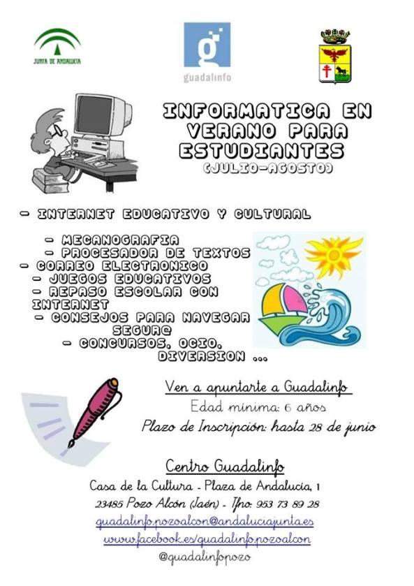 Informática en Verano para estudiantes  Pozo Alcón 2013