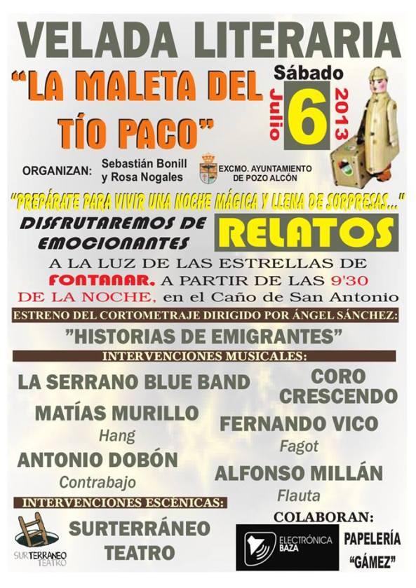 Velada Literaria -La Maleta del Tío Paco -Pozo Alcón 2013