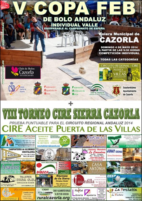 Cartel Copa FEB de Bolo Andaluz Valle Cazorla 2014